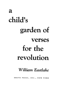 A Child s Garden of Verses for the Revolution Book