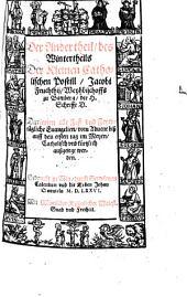 Kleine catholische Postill: Wintertheil : Darinnen alle Fest vnd Feyertägliche Euangelien, vom Aduent biß auff den ersten tag im Meyen ... außgelegt werden, Band 1,Ausgabe 2