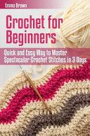 Crochet for Beginners Book