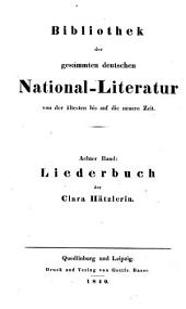 Bibliothek der gesammten deutschen National-Literatur