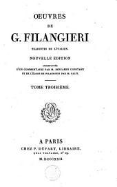 Oeuvres de G. Filangieri: Volume3