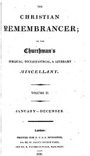 The Christian remembrancer  or  The Churchman s Biblical  ecclesiastical   literary miscellany PDF