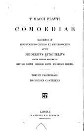T. Macci Plauti comoediae: Volume 3