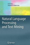 Natural Language Processing and Text Mining