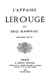 L' affaire Lerouge par Émile Gaboriau