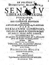 Diss. acad. de senatu liberarum rerum publicarum