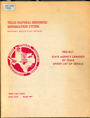 Project  State Agency Libraries of Texas Union List of Serials PDF