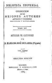 Artículos de costumbres: Volumen 2