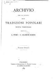 Archivio per lo studio delle tradizioni popolari: Volume 8