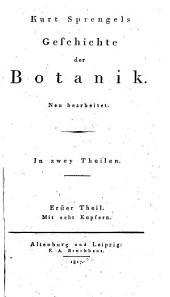 Geschichte der Botanik: Band 1