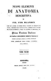 Nuovi elementi di anatomia descrittiva: Volume 1