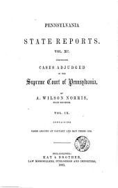 Pennsylvania State Reports: Volume 90