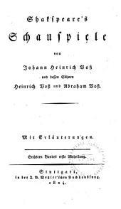 Shakspeare's Schauspiele: Abt. 2: Troilus und Kressida. Koriolan