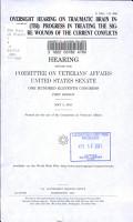 Oversight Hearing on Traumatic Brain Injury  TBI  PDF
