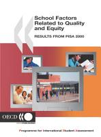 PISA School Factors Related to Quality and Equity Results from PISA 2000 PDF