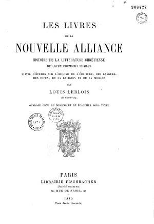 Les livres de la Nouvelle Alliance PDF