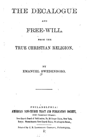 The Decalogue and Free-will