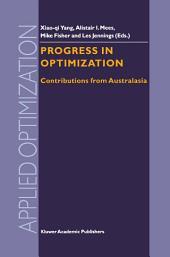 Progress in Optimization: Contributions from Australasia