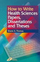 How to Write Health Sciences Papers  Dissertations and Theses PDF