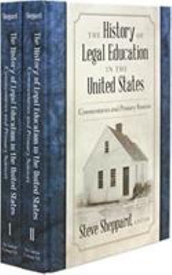 The History of Legal Education in the United States PDF