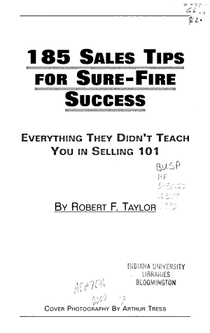 185 Sales Tips for Sure-fire Success