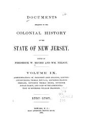 Documents Relating to the Colonial History of the State of New Jersey: Volume 9