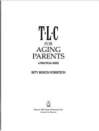 TLC for Aging Parents PDF