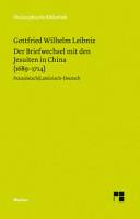 Der Briefwechsel mit den Jesuiten in China  1689 1714  PDF