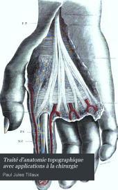 Traité d'anatomie topographique avec applications à la chirurgie: Partie2