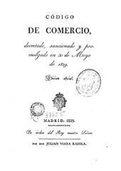 Codigo de comercio, 1: decretado, sancionado y promulgado en 30 de mayo de 1829