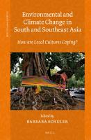 Environmental and Climate Change in South and Southeast Asia PDF