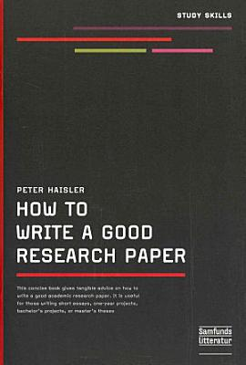 How to Write a Good Research Paper PDF