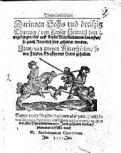 Turnierbüchlein von Keyser Heinrich I. ... bis auf Maximilianum I. 1487
