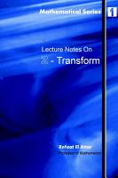 Lecture Notes on Z Transform PDF