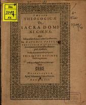 Theses theol. de sacra Domini coena
