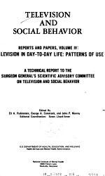 Television and Social Behavior