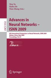 Advances in Neural Networks - ISNN 2009: 6th International Symposium on Neural Networks, ISNN 2009 Wuhan, China, May 26-29, 2009 Proceedings, Part 2