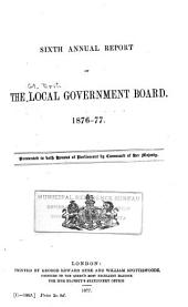 Annual Report of the Local Government Board: Volume 6