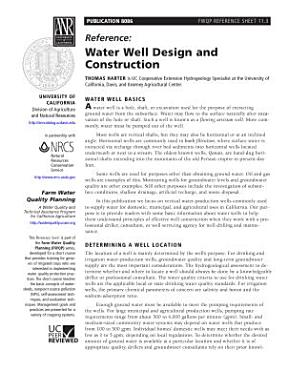 Water Well Design and Construction PDF