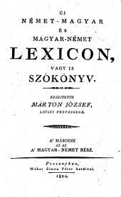 Neues deutsch-ungrisches und ungrisch-deutsches Handlexicon, oder Wörterbuch