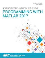 An Engineer s Introduction to Programming with MATLAB 2017 PDF