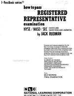 How to Pass Registered Representative Examination: NYSE/NASD/SEC.