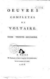 Oeuvres complètes de Voltaire: Volume46