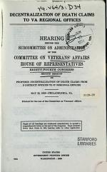 Decentralization of Death Claims to VA Regional Offices