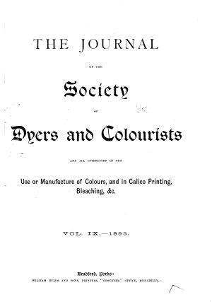 Journal of the Society of Dyers and Colourists