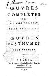 Oeuvres complètes de l'abbé de Mably