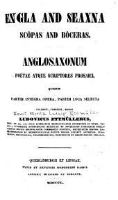 Engla and Seaxna Scôpas and Bôceras