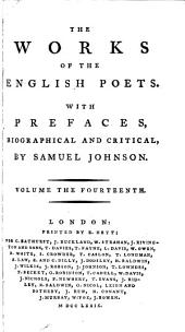 The Works of the English Poets: With Prefaces, Biographical and Critical, Volume 14