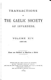 Transactions of the Gaelic Society of Inverness: Volume 14