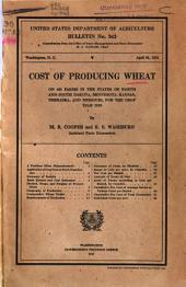 Cost of Producing Wheat